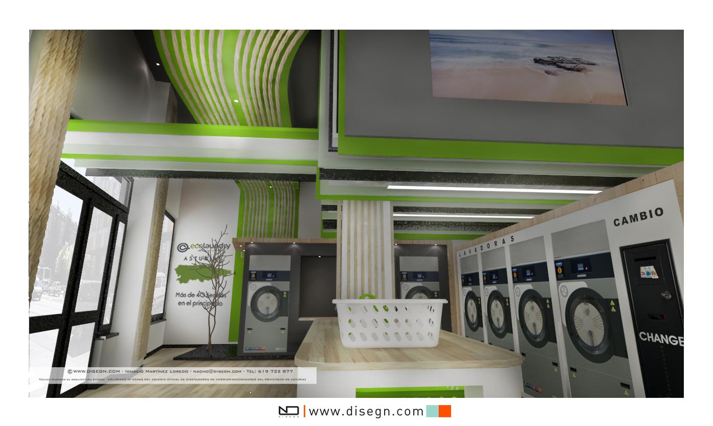 Decoración lavandería ECOLAUNDRY