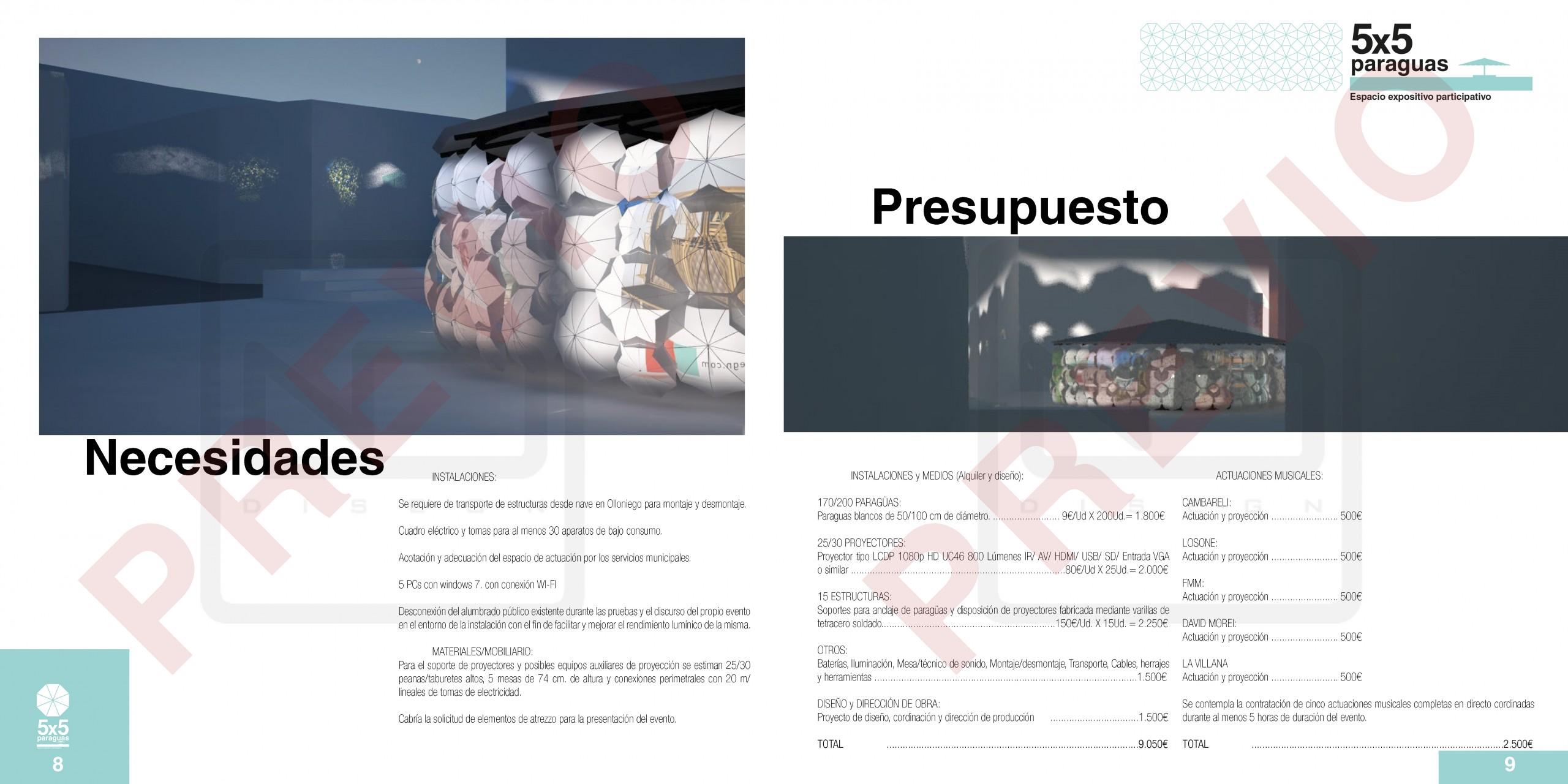 5x5 paraguas - Noche Blanca Oviedo 2016