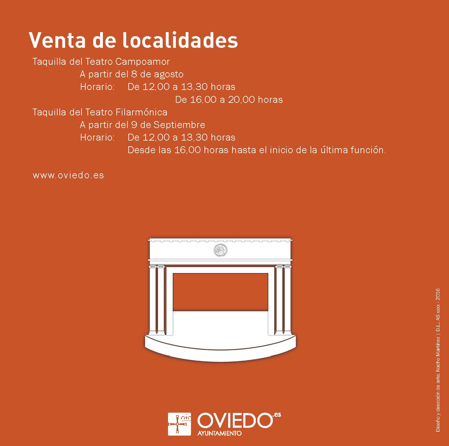 Diseño Programación Teatro San Mateo - Oviedo 2016